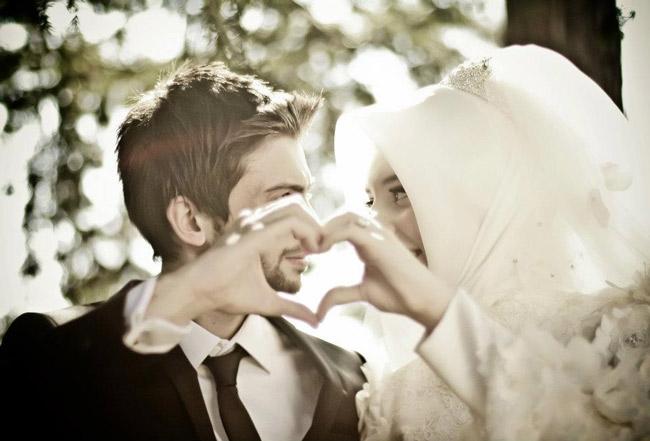 креативная мусульманская свадебная фотография