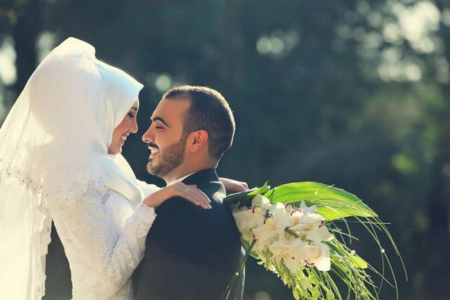 романтическая фотография никаха жениха и невесты