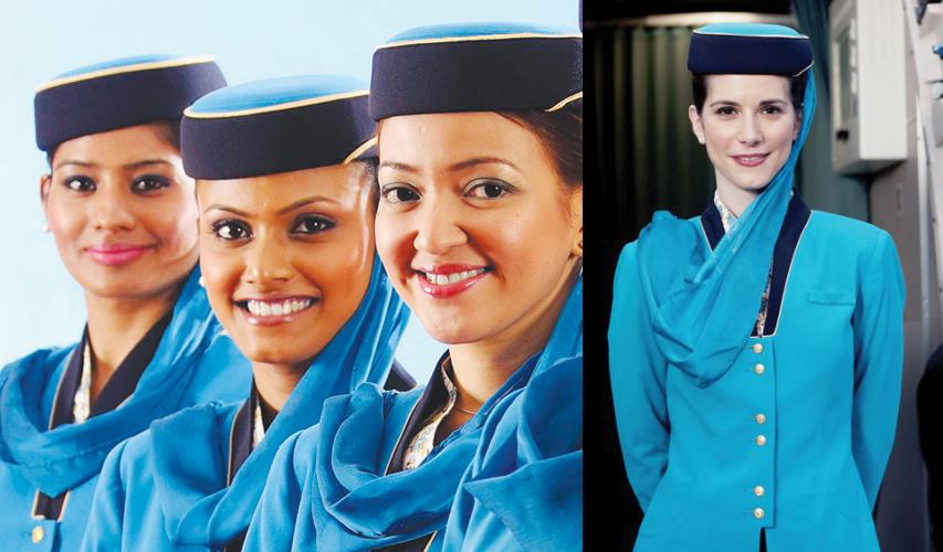 Стюардессы мусульманки в Oman Airlines (Оманские авиалинии)