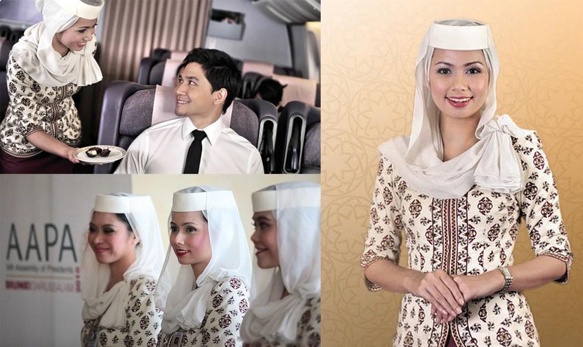 Стюардессы в хиджабе Royal Brunei Airlines
