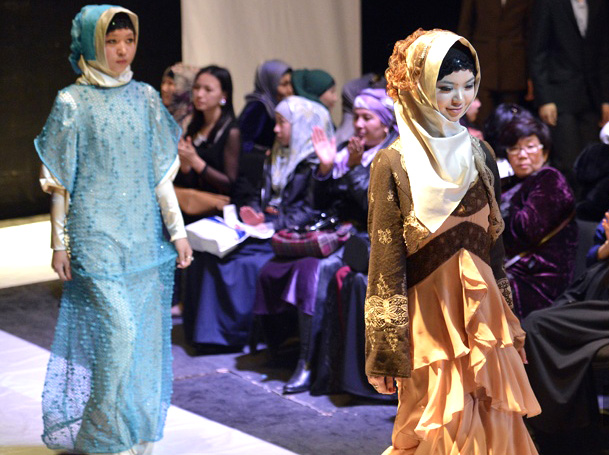 Мусульманские наряды в Бишкеке