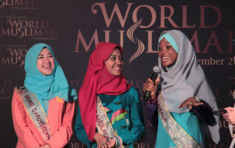 Выступление участниц конкурса Мисс Мусульманка