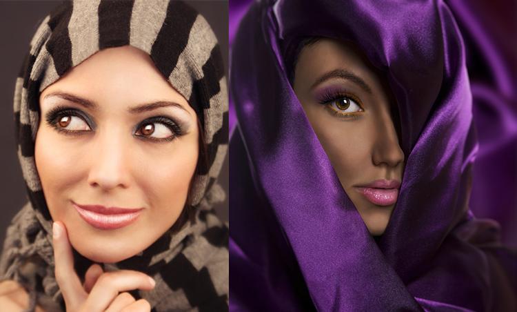 Мусульманский макияж, красивые мусульманки
