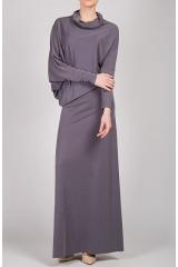 Платье макси (серый)
